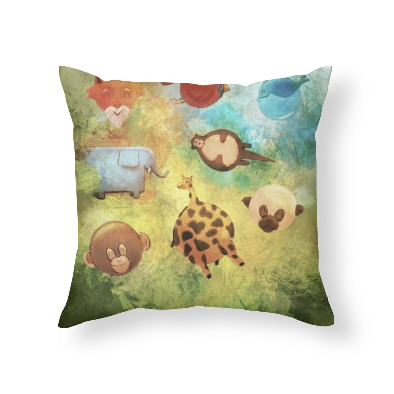 Balloon Animals Home Throw Pillow by @franzeboy Artist Shop