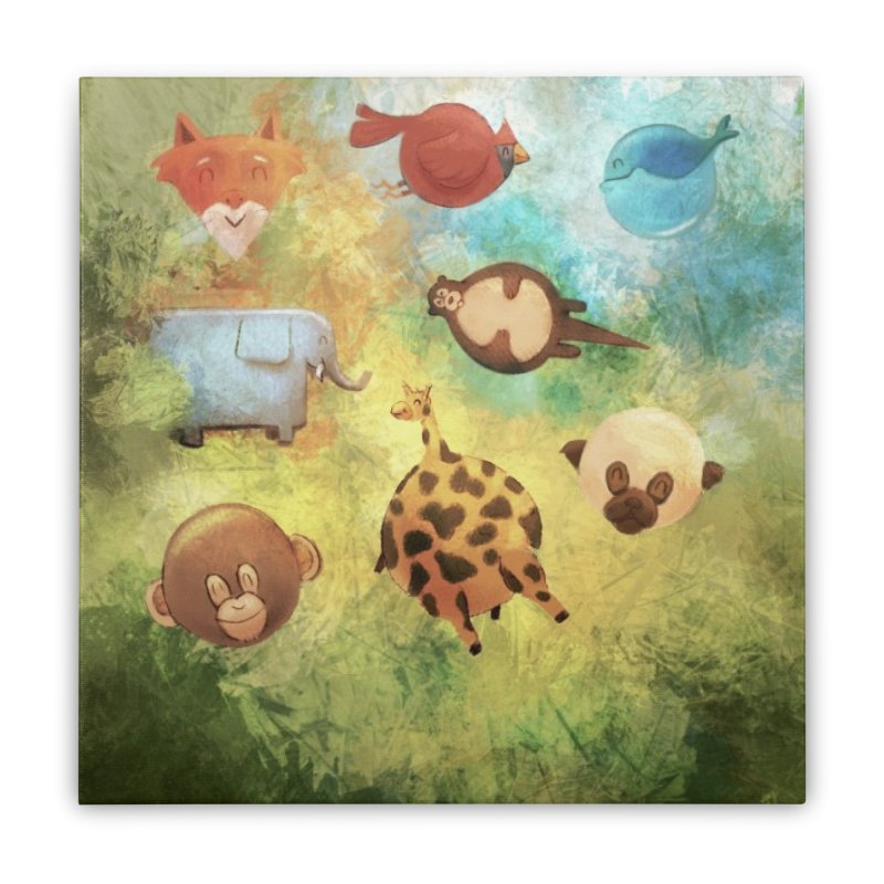 Balloon Animals Home Stretched Canvas by @franzeboy Artist Shop