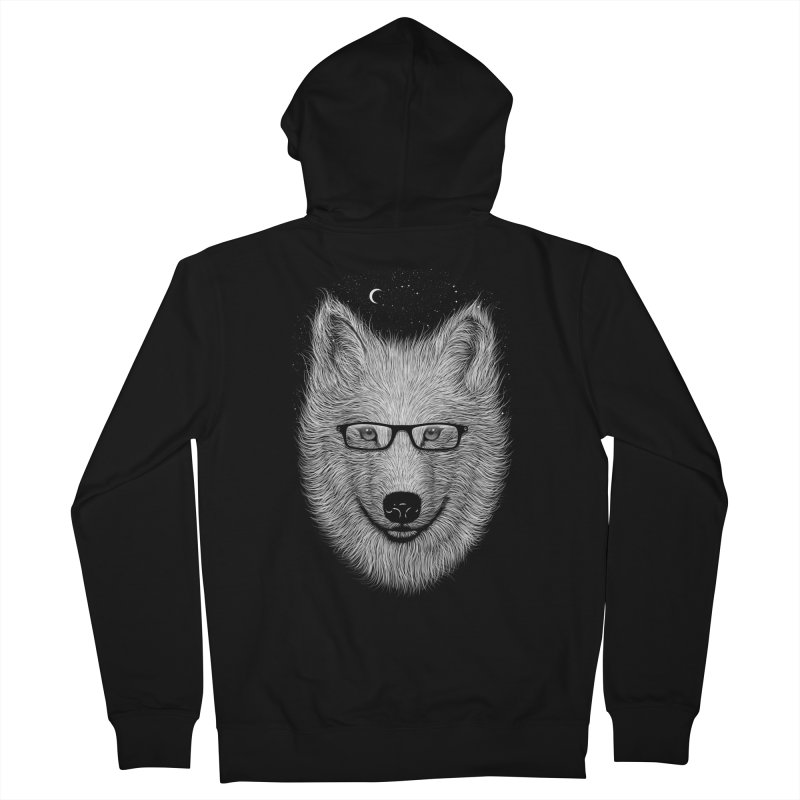 SPECTAC WOLF Men's Zip-Up Hoody by franzsyd's Artist Shop