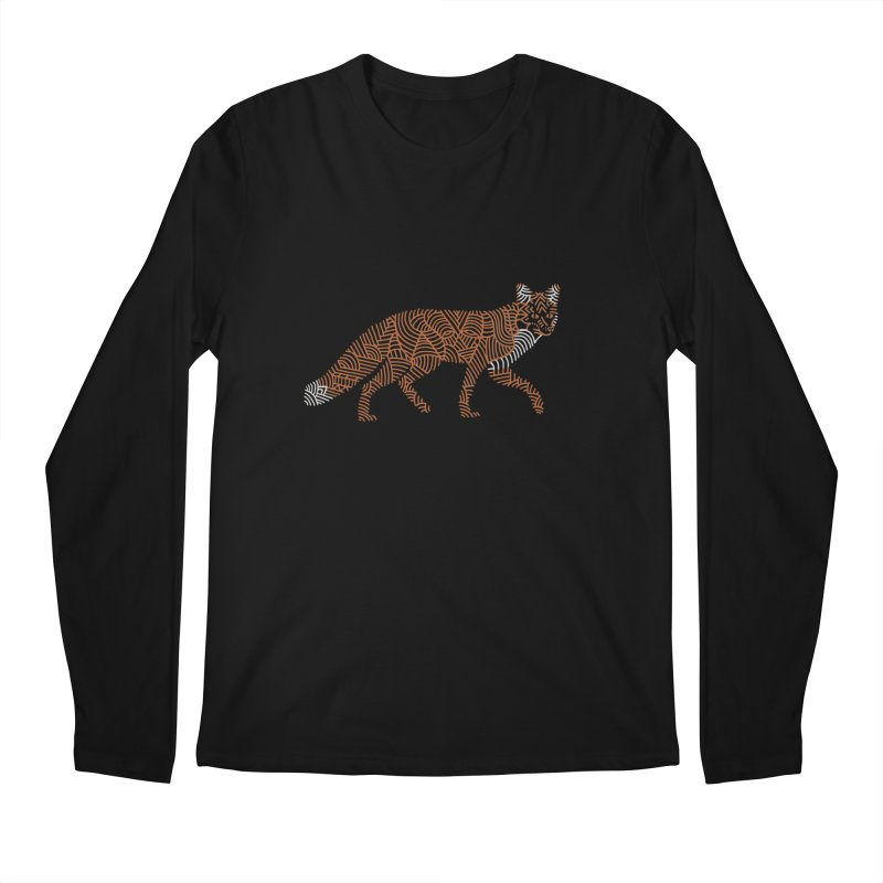 Fox Men's Longsleeve T-Shirt by Frasq