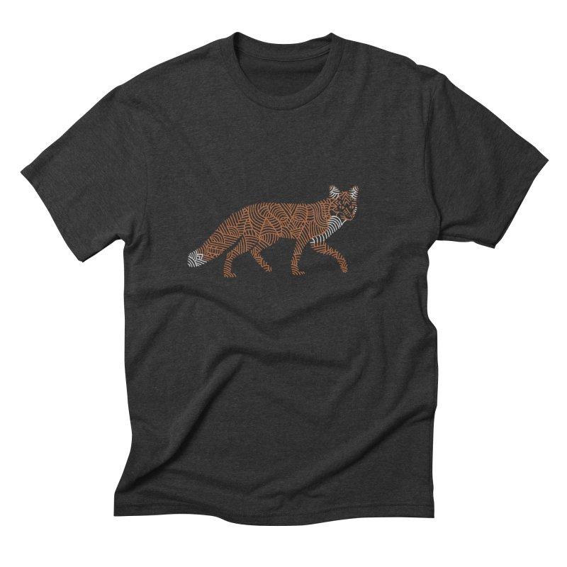 Fox Men's Triblend T-Shirt by Frasq