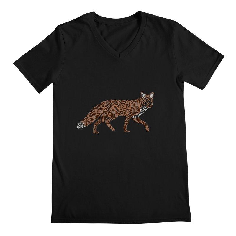 Fox Men's V-Neck by Frasq