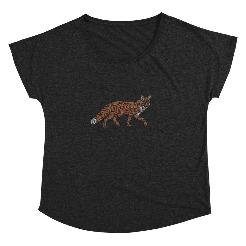 Fox Women's Dolman Scoop Neck by Frasq