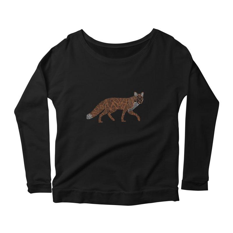 Fox Women's Longsleeve Scoopneck  by Frasq