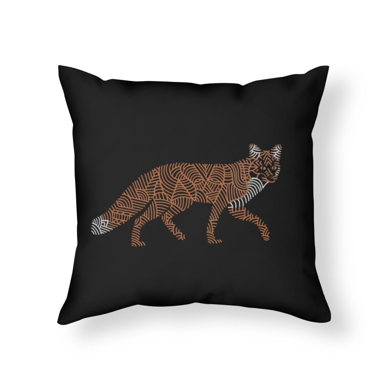 Fox Home Throw Pillow by Frasq
