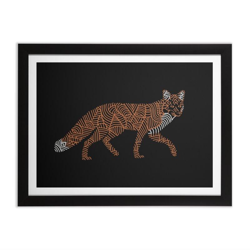Fox Home Framed Fine Art Print by Frasq