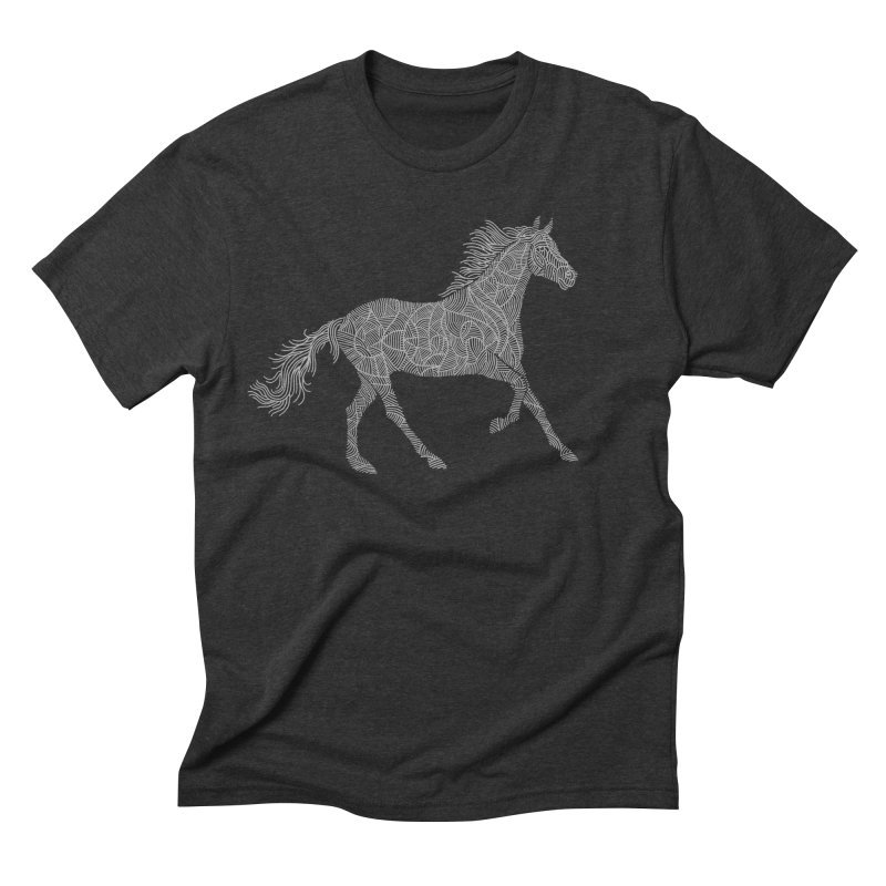 Silver Men's Triblend T-Shirt by Frasq