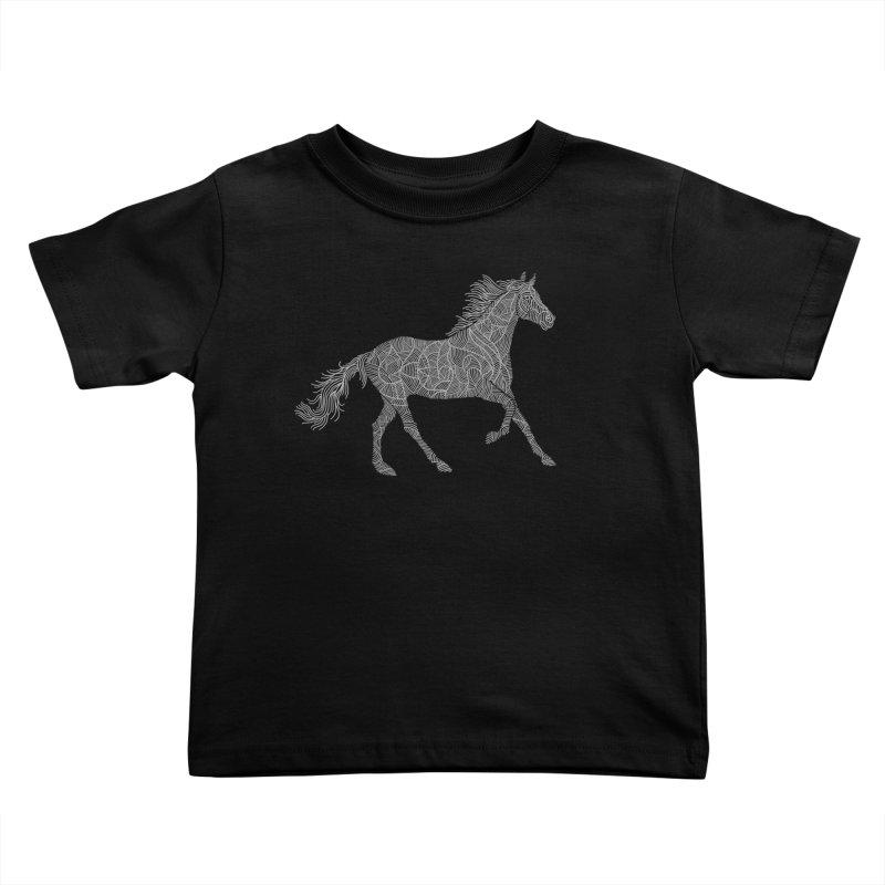 Silver Kids Toddler T-Shirt by Frasq