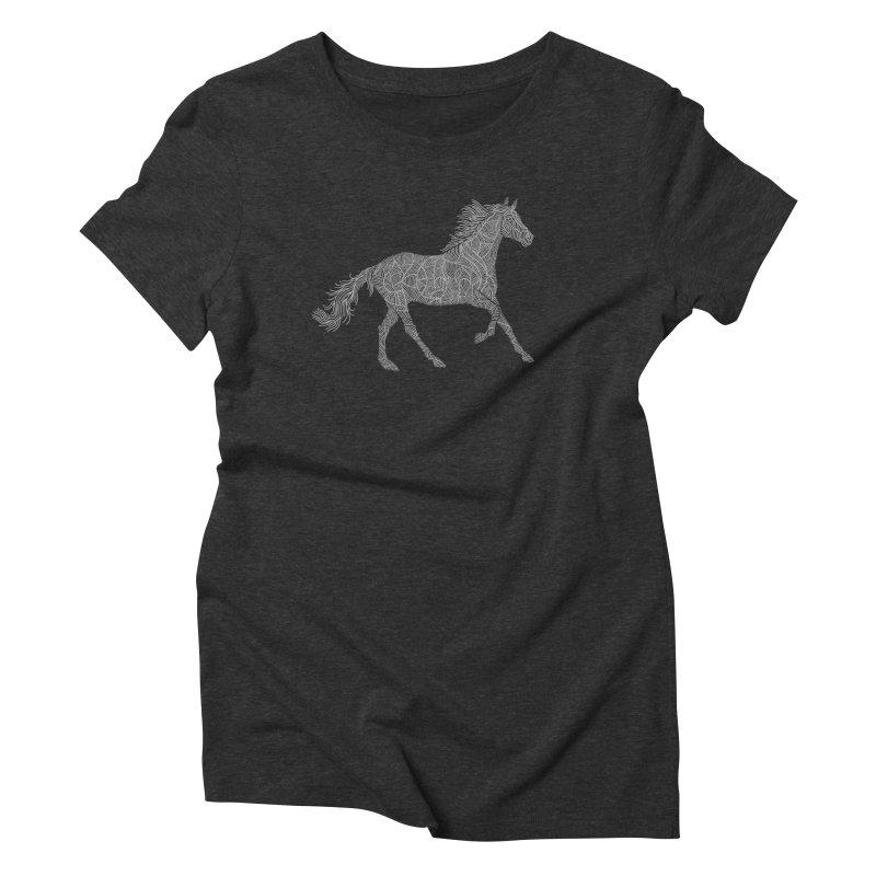 Silver Women's Triblend T-Shirt by Frasq