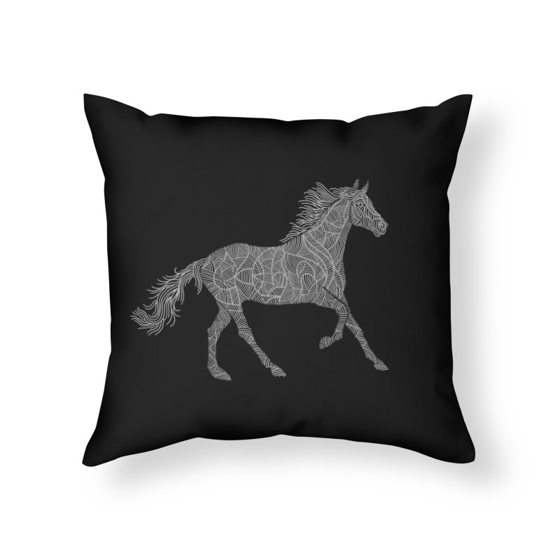 Silver Home Throw Pillow by Frasq