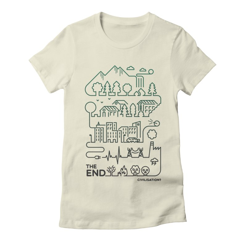 Civilization? Women's Fitted T-Shirt by Frasq