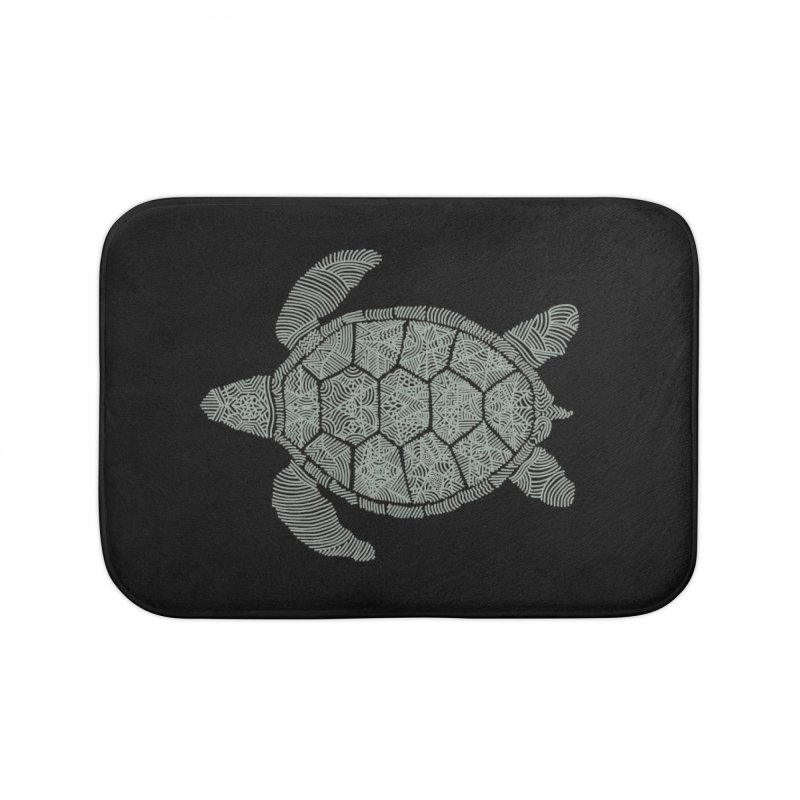 Turtle Home Bath Mat by Frasq