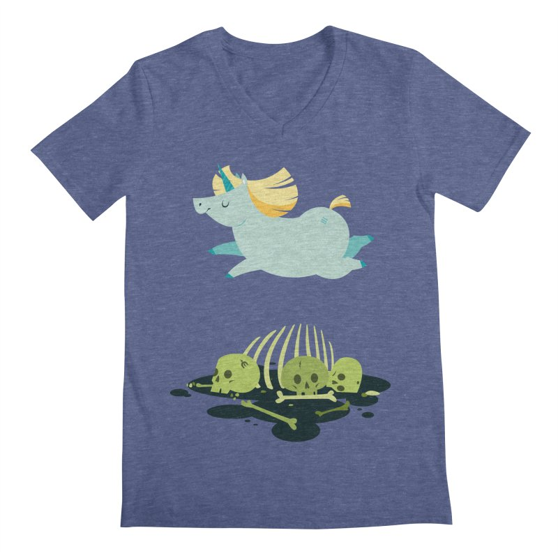 Chubbycorn Men's V-Neck by frauewert's Artist Shop