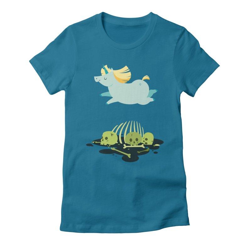 Chubbycorn Women's Fitted T-Shirt by frauewert's Artist Shop