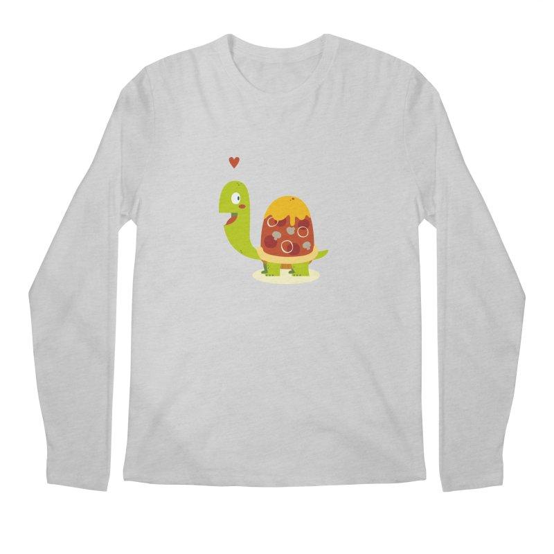 Pizza turtle Men's Longsleeve T-Shirt by frauewert's Artist Shop