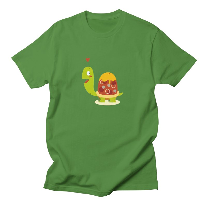 Pizza turtle Men's T-Shirt by frauewert's Artist Shop