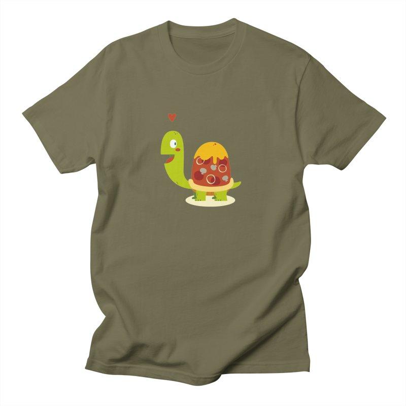 Pizza turtle Men's Regular T-Shirt by frauewert's Artist Shop