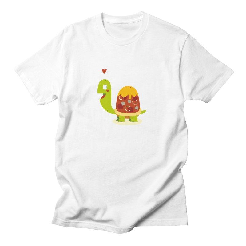 Pizza turtle Men's T-shirt by frauewert's Artist Shop