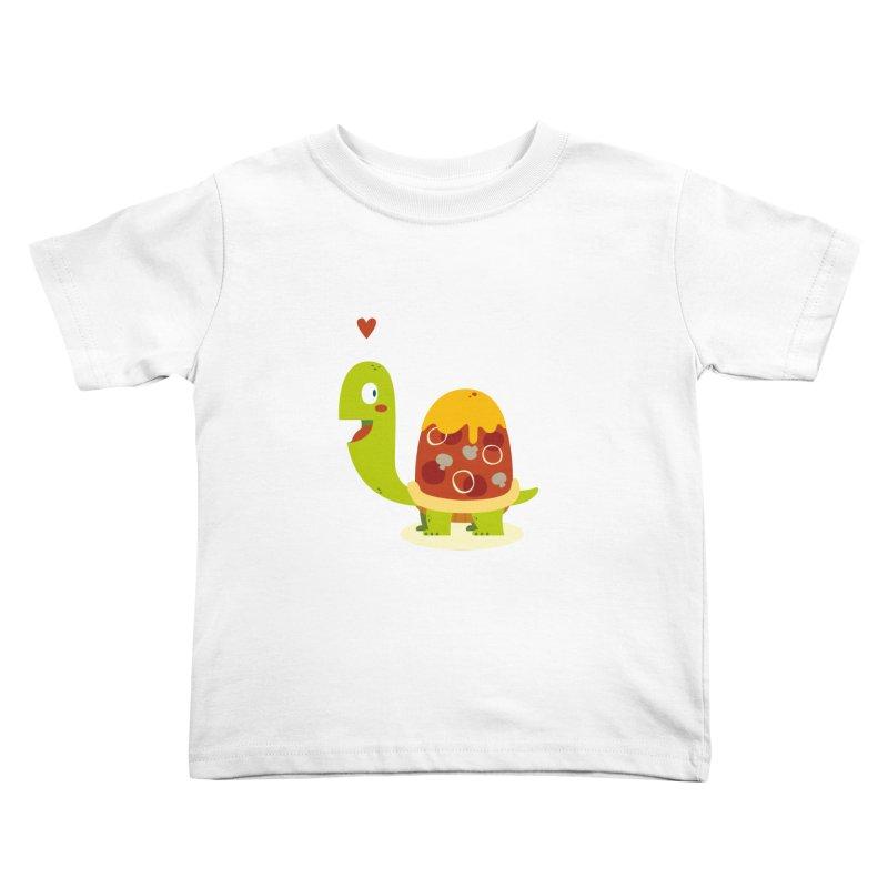Pizza turtle Kids Toddler T-Shirt by frauewert's Artist Shop