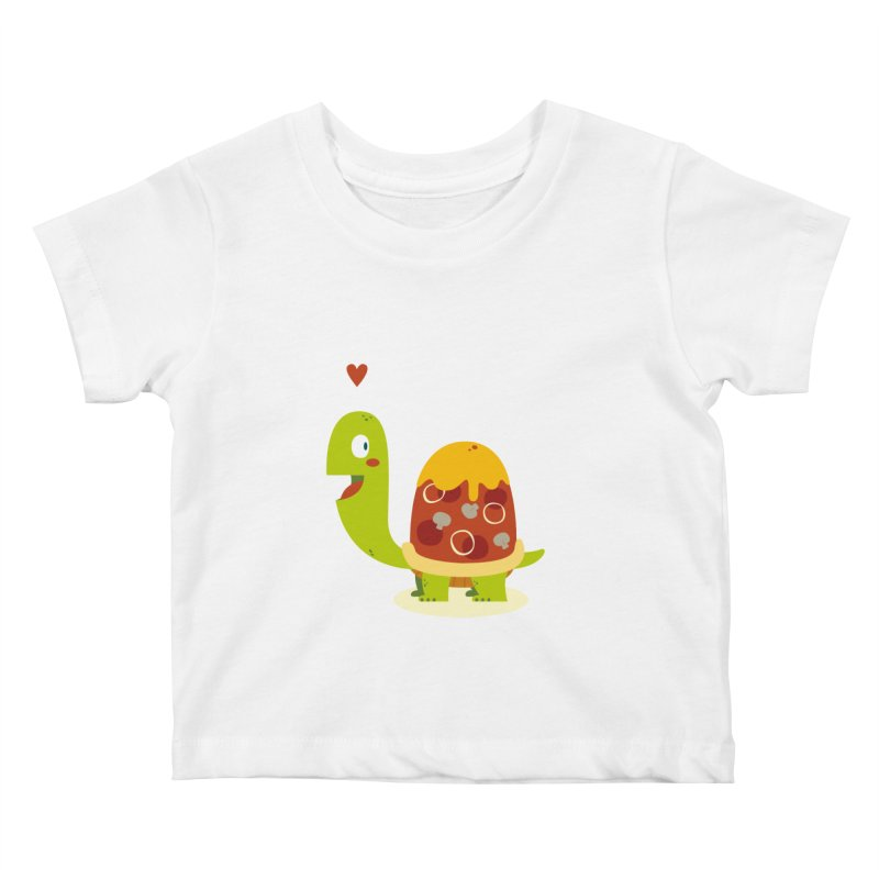 Pizza turtle Kids Baby T-Shirt by frauewert's Artist Shop