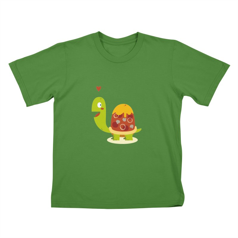 Pizza turtle Kids T-shirt by frauewert's Artist Shop