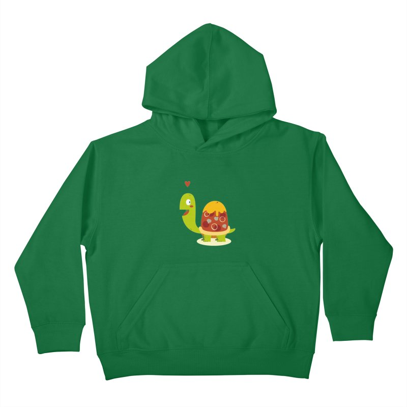 Pizza turtle Kids Pullover Hoody by frauewert's Artist Shop