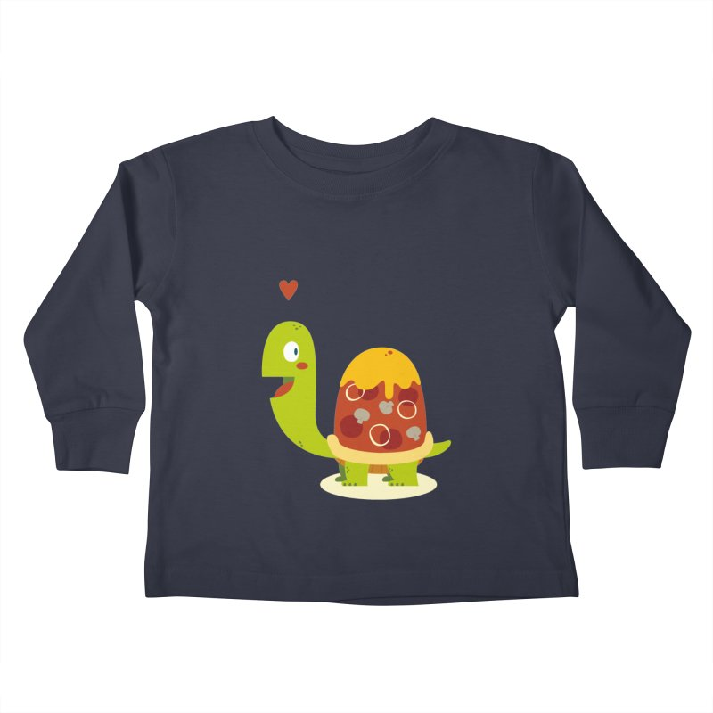 Pizza turtle Kids Toddler Longsleeve T-Shirt by frauewert's Artist Shop