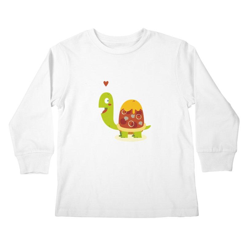 Pizza turtle Kids Longsleeve T-Shirt by frauewert's Artist Shop