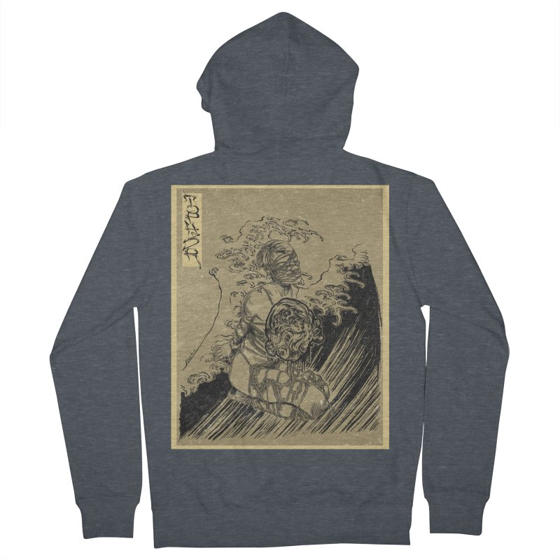 topher edo period kinbaku Men's French Terry Zip-Up Hoody by FredRx's Artist Shop