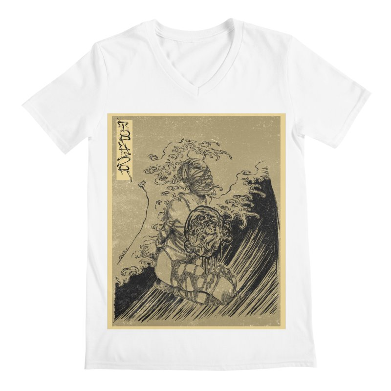 topher edo period kinbaku Men's V-Neck by FredRx's Artist Shop