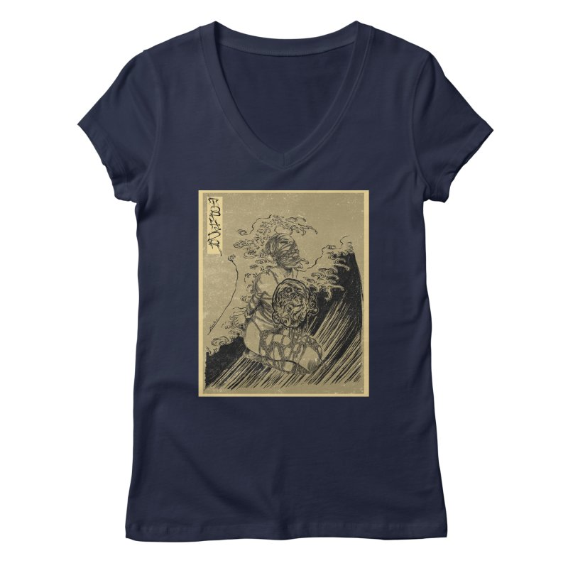 topher edo period kinbaku Women's Regular V-Neck by FredRx's Artist Shop