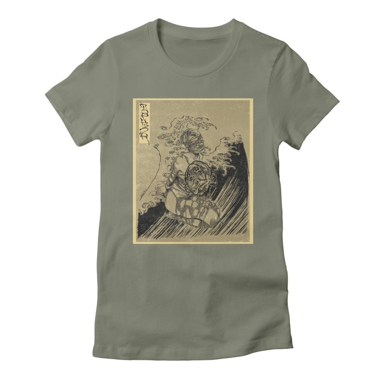 topher edo period kinbaku Women's Fitted T-Shirt by FredRx's Artist Shop