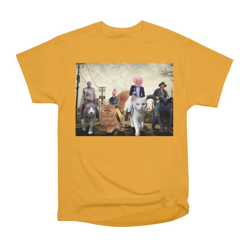 four catfreds of the apocalypse Men's Heavyweight T-Shirt by FredRx's Artist Shop