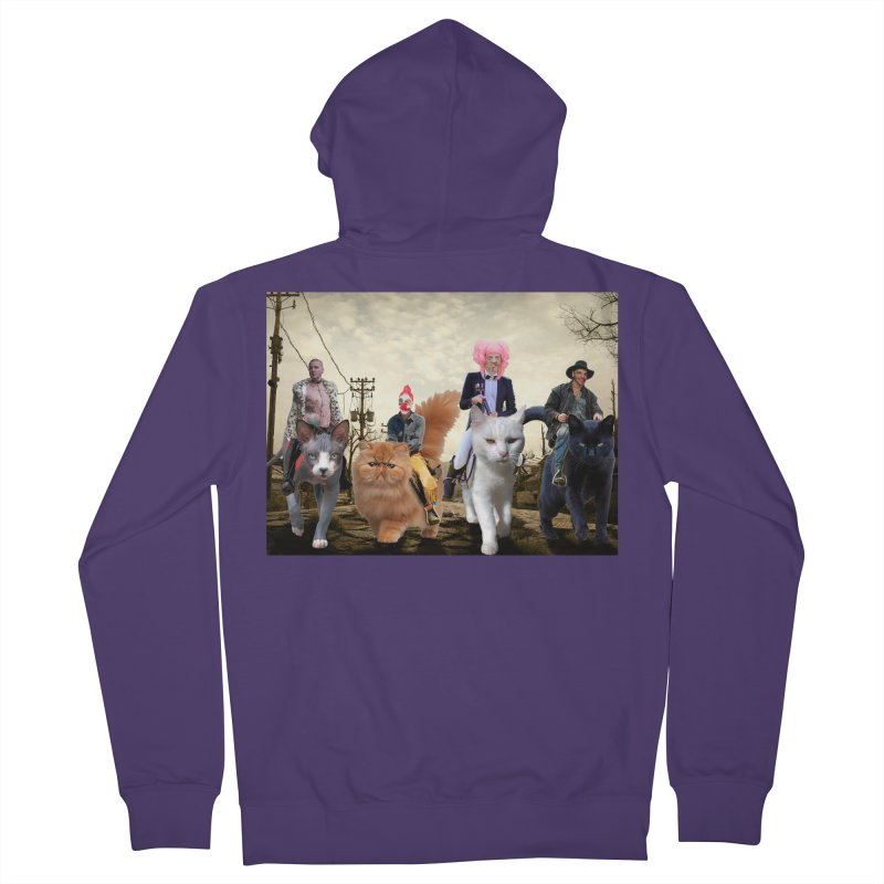 four catfreds of the apocalypse Women's French Terry Zip-Up Hoody by FredRx's Artist Shop