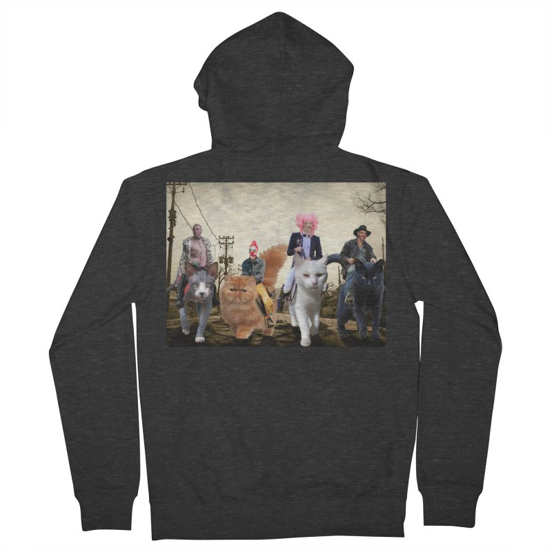 four catfreds of the apocalypse Men's Zip-Up Hoody by FredRx's Artist Shop