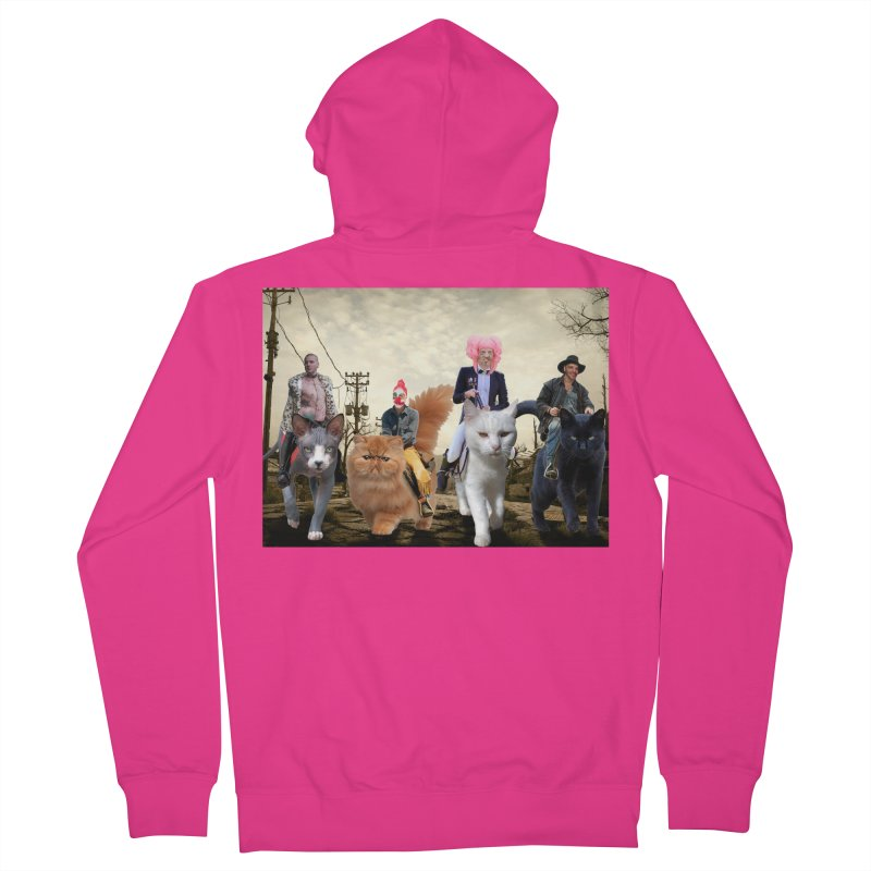 four catfreds of the apocalypse Men's French Terry Zip-Up Hoody by FredRx's Artist Shop