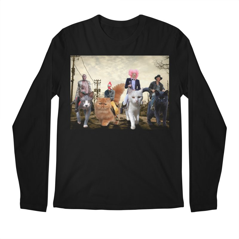 four catfreds of the apocalypse Men's Regular Longsleeve T-Shirt by FredRx's Artist Shop