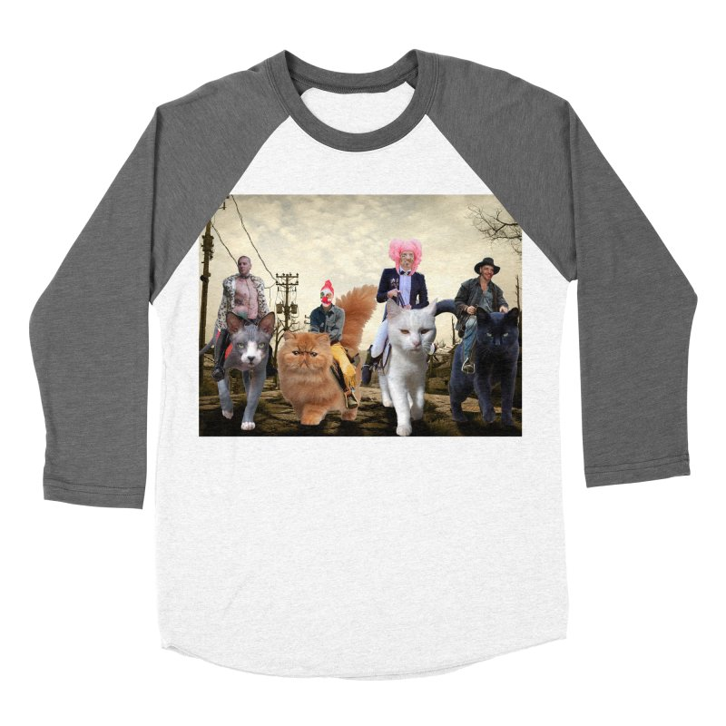 four catfreds of the apocalypse Men's Baseball Triblend Longsleeve T-Shirt by FredRx's Artist Shop