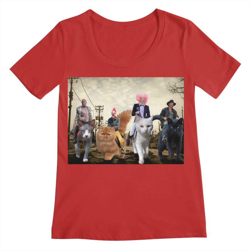 four catfreds of the apocalypse Women's Regular Scoop Neck by FredRx's Artist Shop