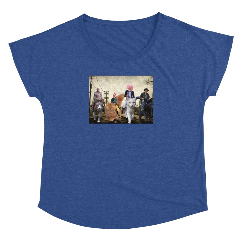 four catfreds of the apocalypse Women's Dolman Scoop Neck by FredRx's Artist Shop