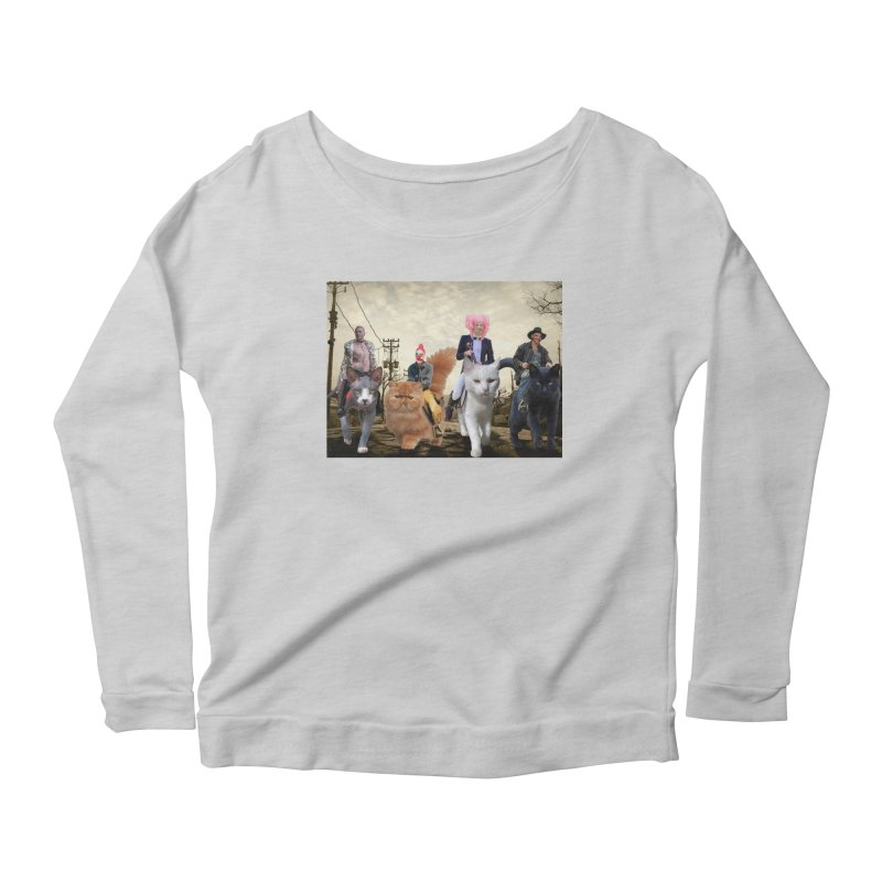 four catfreds of the apocalypse Women's Scoop Neck Longsleeve T-Shirt by FredRx's Artist Shop