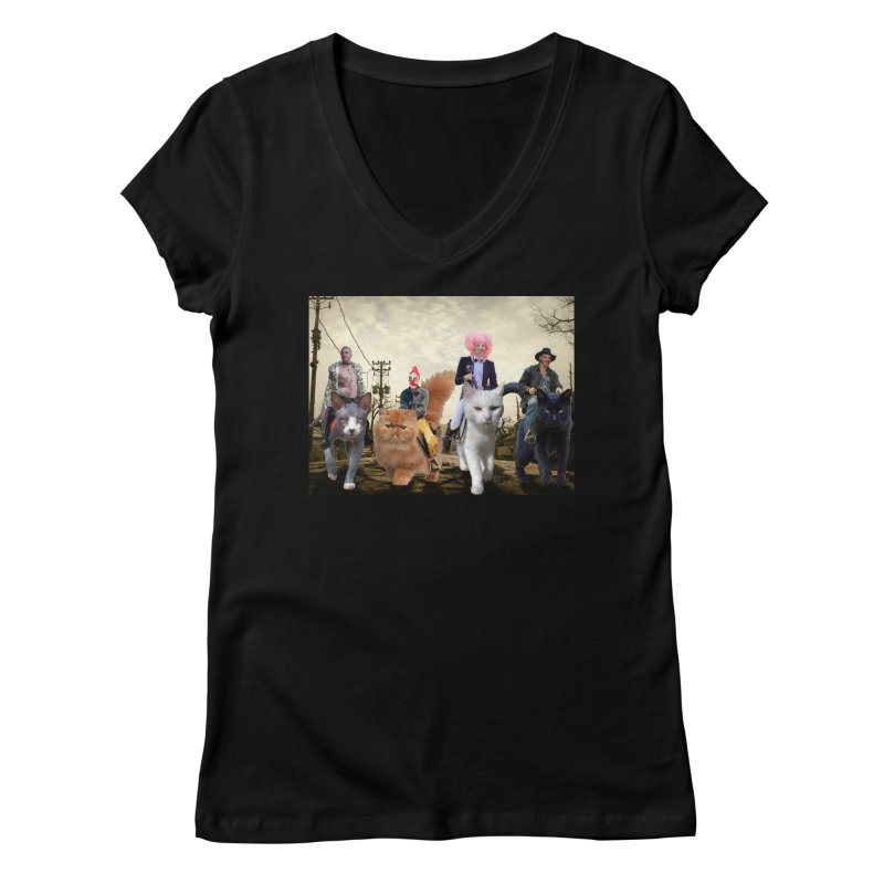 four catfreds of the apocalypse Women's V-Neck by FredRx's Artist Shop