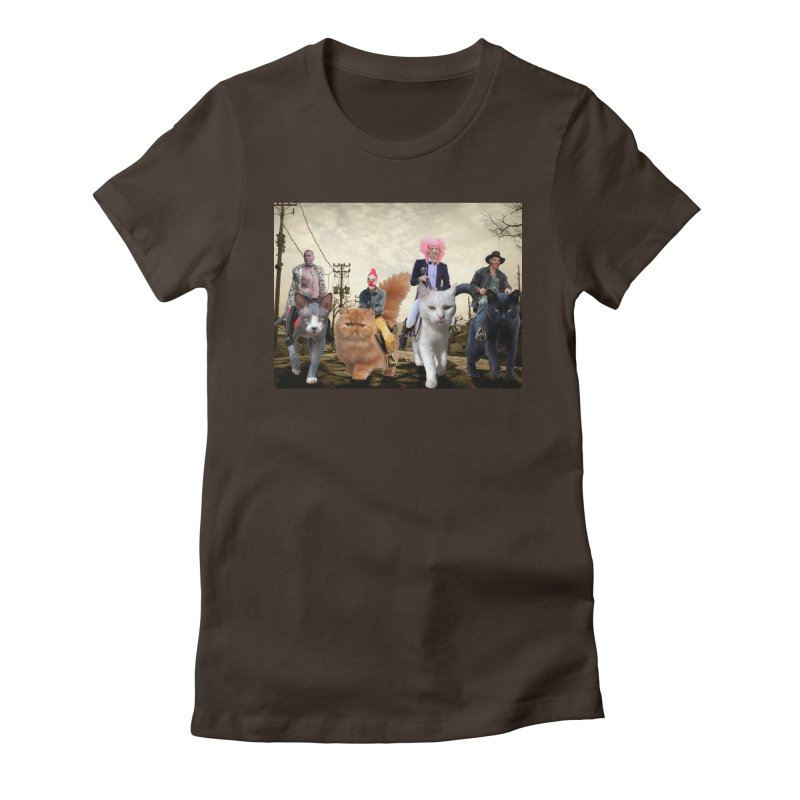 four catfreds of the apocalypse Women's Fitted T-Shirt by FredRx's Artist Shop