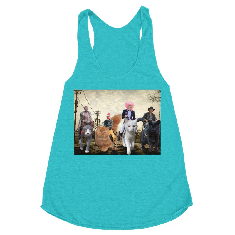 four catfreds of the apocalypse Women's Racerback Triblend Tank by FredRx's Artist Shop