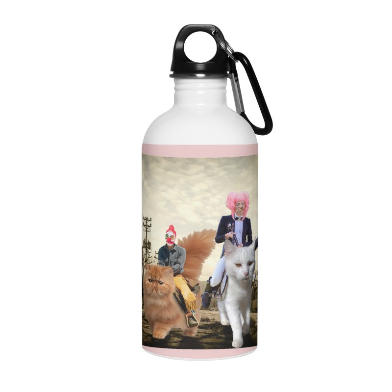 four catfreds of the apocalypse Accessories Water Bottle by FredRx's Artist Shop