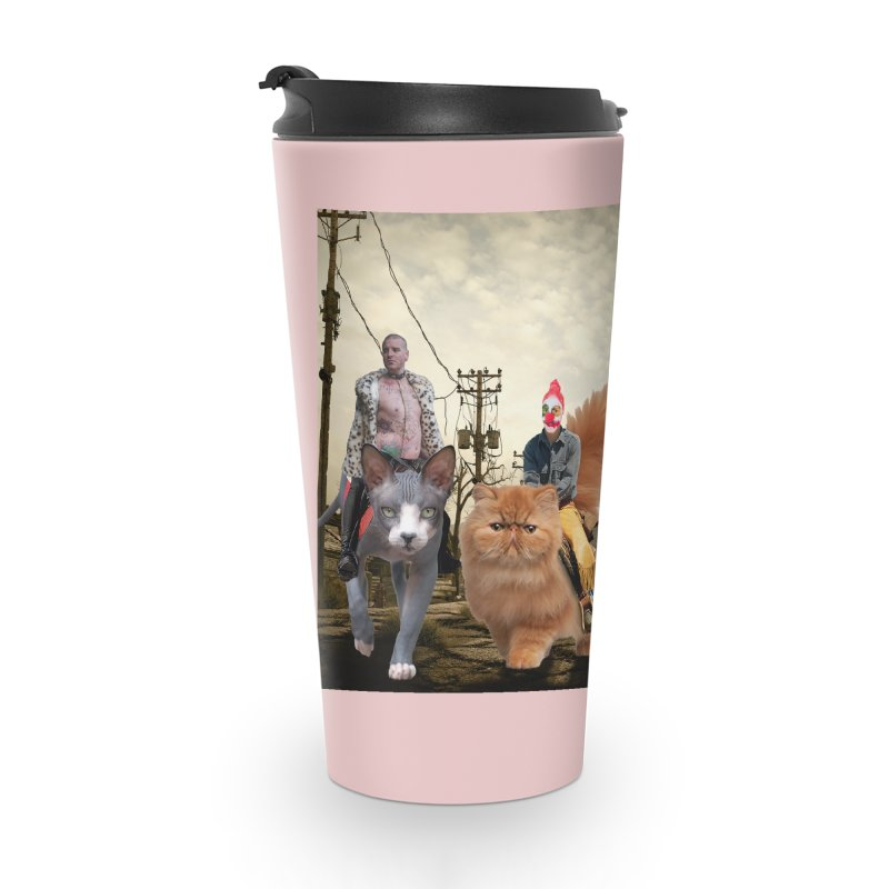 four catfreds of the apocalypse Accessories Travel Mug by FredRx's Artist Shop