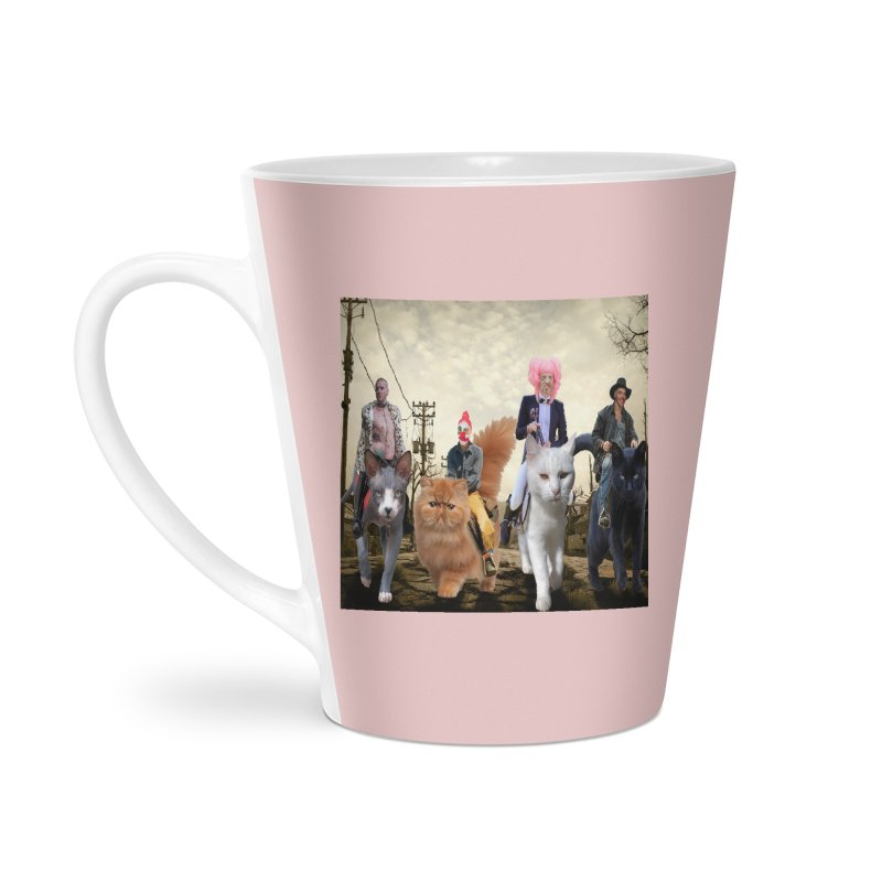four catfreds of the apocalypse Accessories Latte Mug by FredRx's Artist Shop