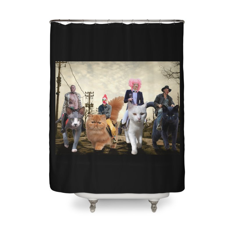 four catfreds of the apocalypse Home Shower Curtain by FredRx's Artist Shop