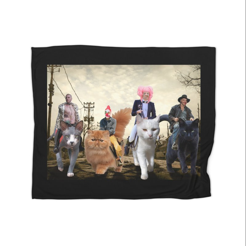 four catfreds of the apocalypse Home Fleece Blanket Blanket by FredRx's Artist Shop
