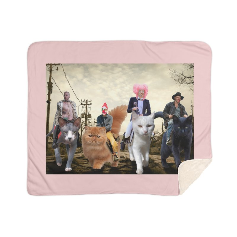 four catfreds of the apocalypse Home Sherpa Blanket Blanket by FredRx's Artist Shop